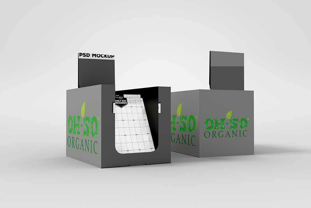 free shelf box packaging mockup