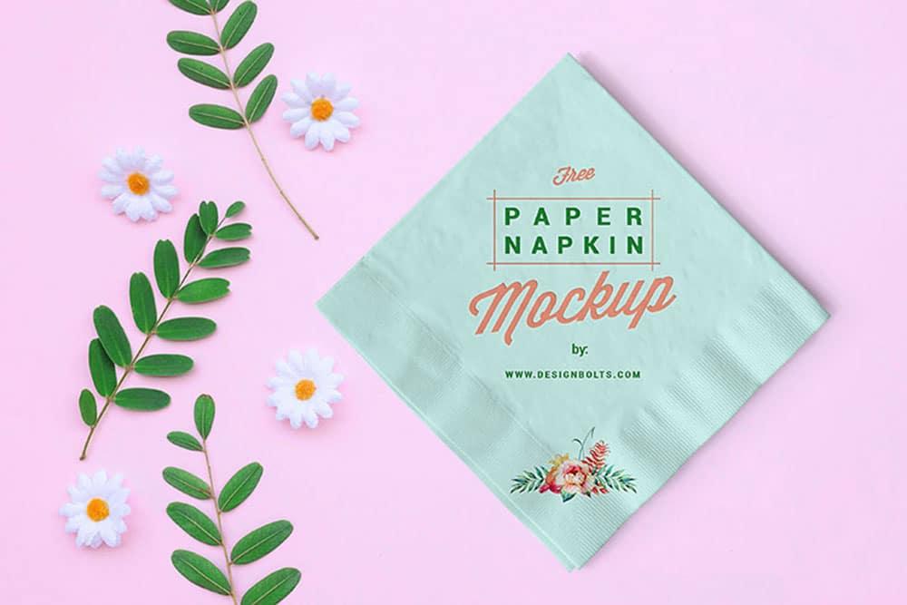 free paper table napkin mockup