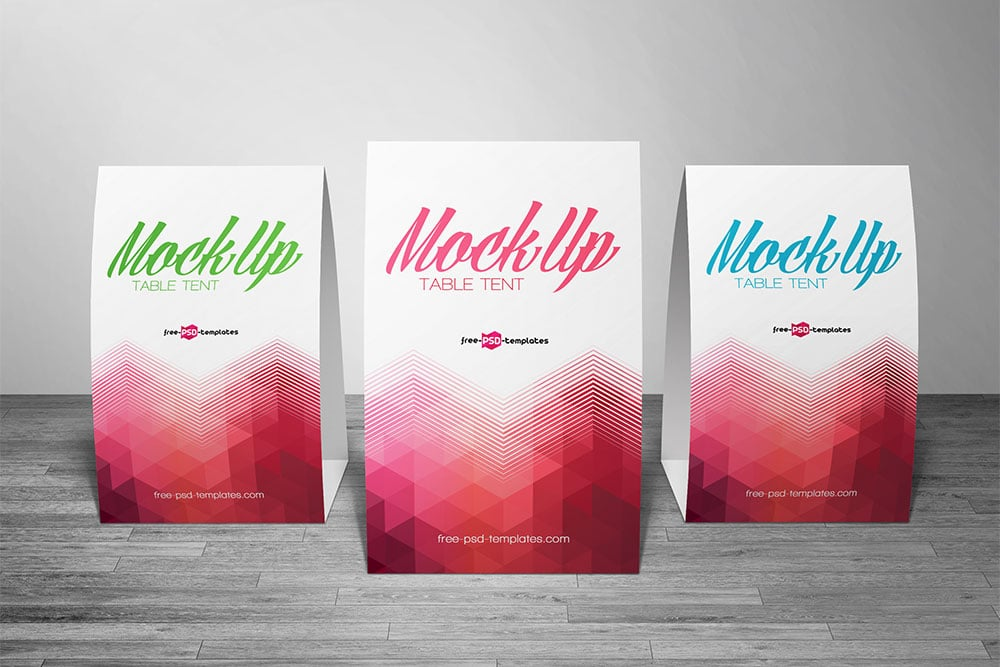 free table tent card mockup