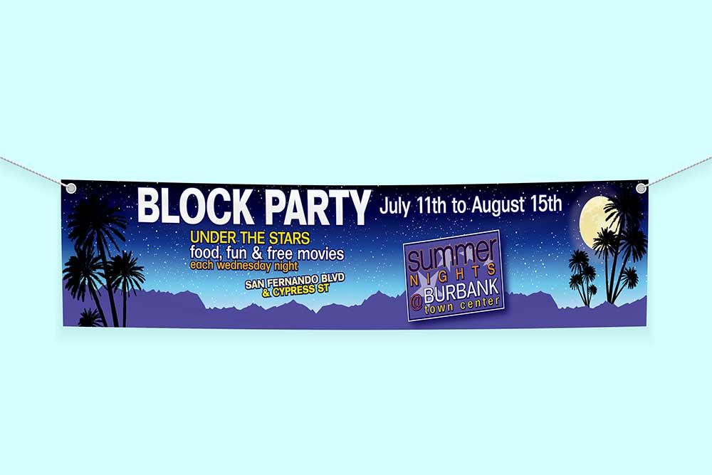 free textile banner mockup