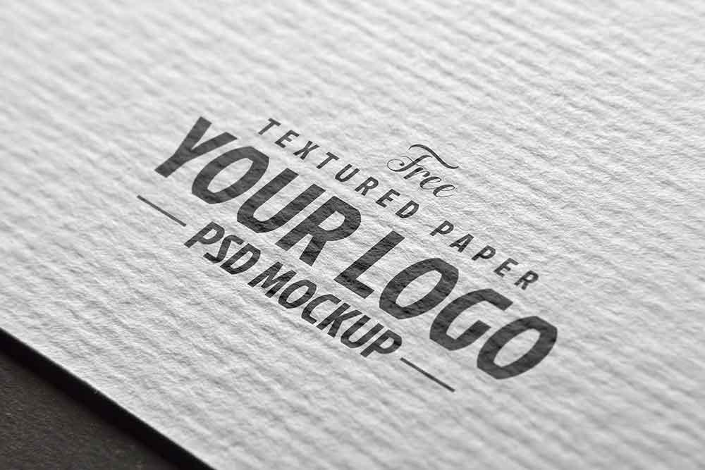 free textured paper logo mockup