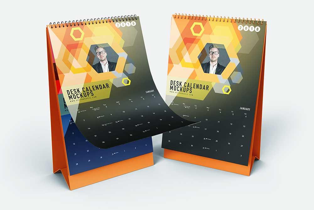 download this free vertical desk calendar mockup