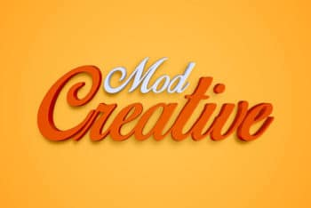 Free Creative 3D Text Effect Mockup in PSD