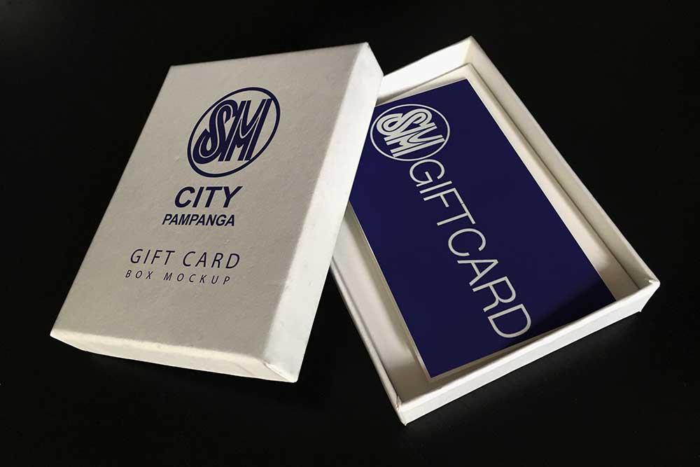 gift card box mockup