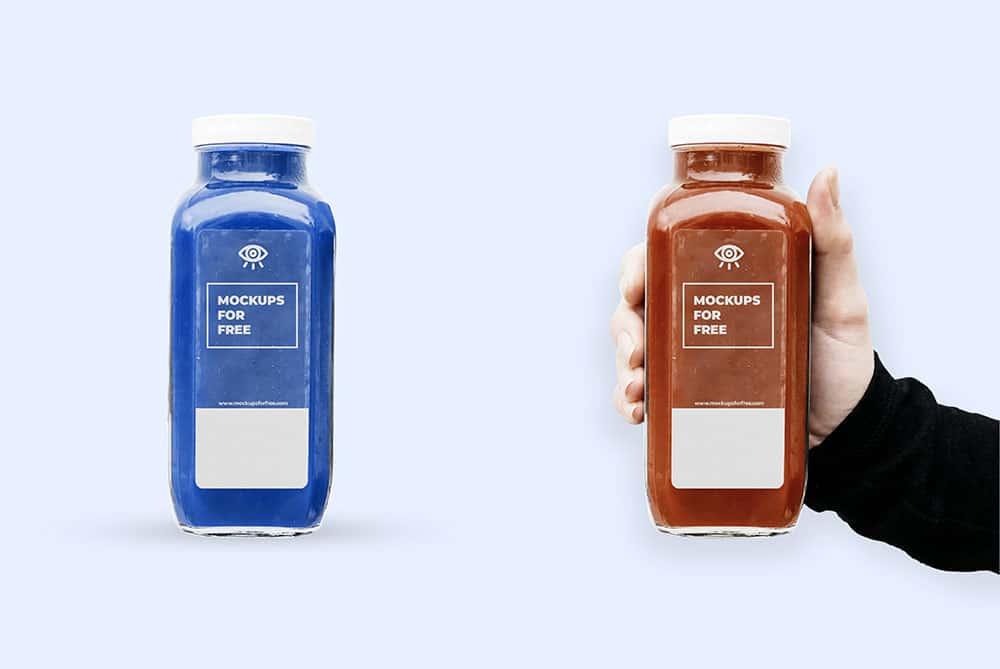 glass bottle mockup