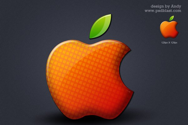 Colored Shiny Apple Logo