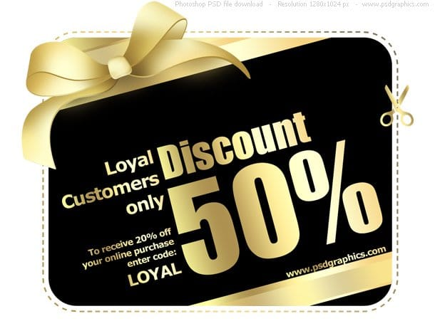 Gold Plus Black Shopping Card Design