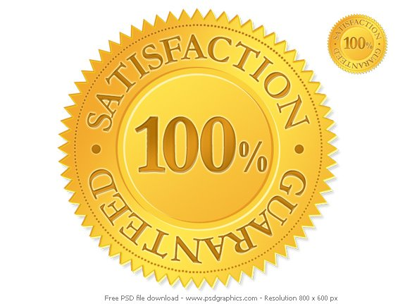 Gold Satisfaction Guaranteed Seal