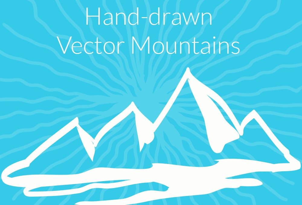 Hand Drawn Mountains Design