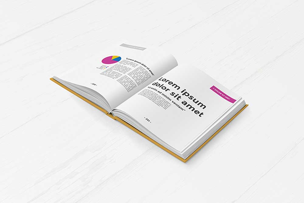 free download hardcover book mockup