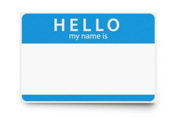 Free Simple Name Tag Design Mockup in PSD
