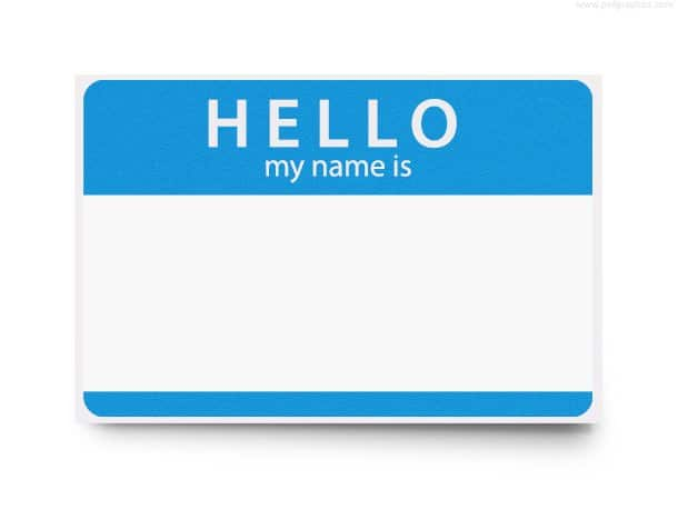 Simple Name Tag