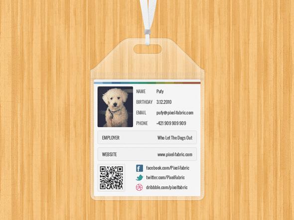 ID Card Plus Plastic Case