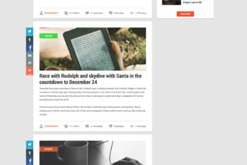 Website Blog Design PSD Template Available For Free
