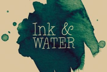 Free Ink Plus Water Design Mockup in PSD