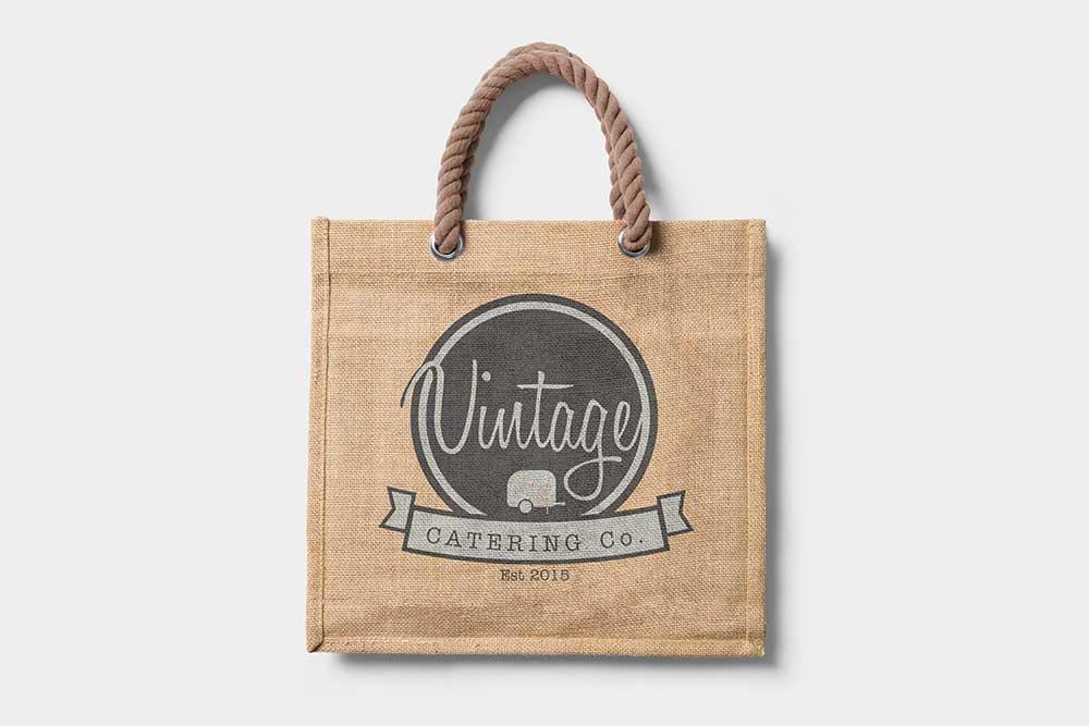 free promotional jute bag mockup