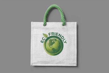Free Promotional Jute Bag Mockup In PSD
