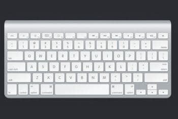 Free Elegant Apple Keyboard Design Mockup in PSD