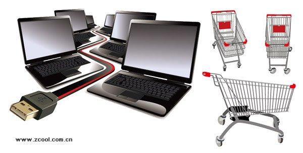 Laptop Computers Plus Shopping Cart