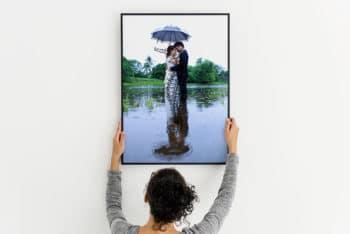Large Photo Frame Mockup in PSD
