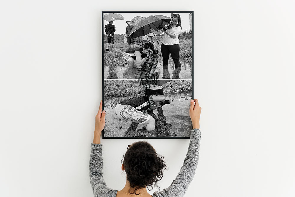 large photo frame mockup