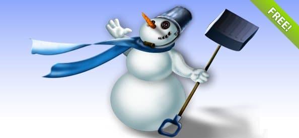 Layered Snowman Illustration