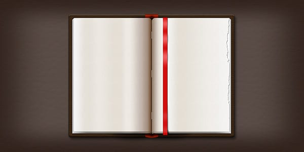 Opened Leather Book Design