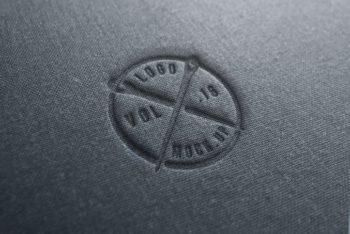 Free Realistic Linen Logo Design Mockup in PSD