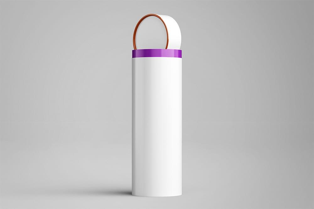 Long Tube Can Packaging Mockup