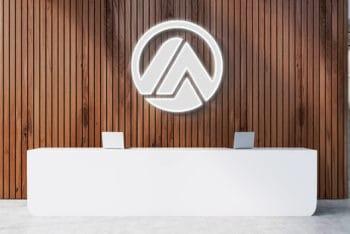 Free Luminous Logo Mockup In PSD