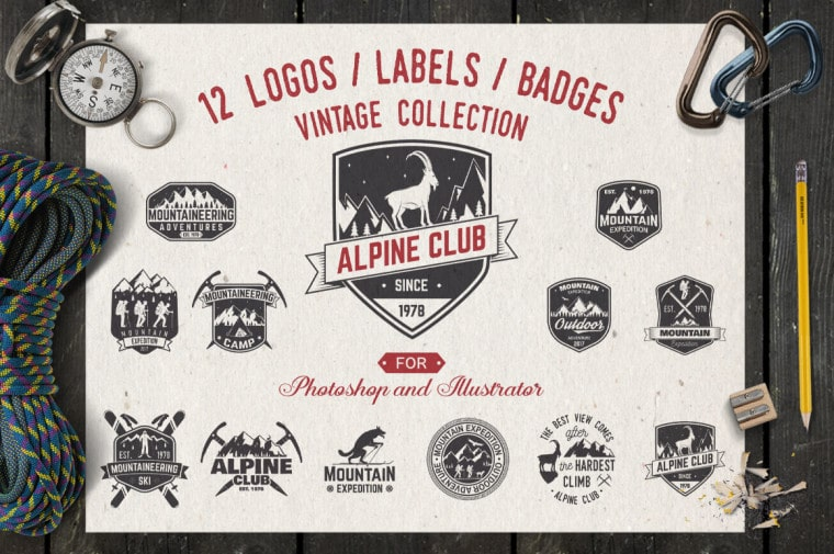 Alpine Club Vintage Logo