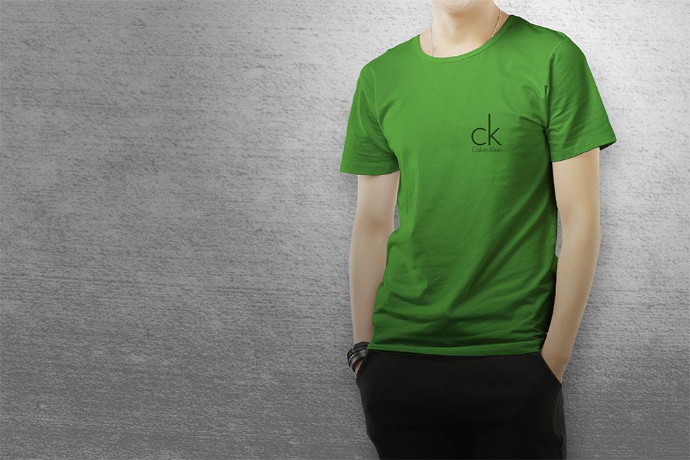 male multi-color t-shirt mockup