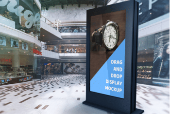Mall Billboard PSD Mockup Available For Free