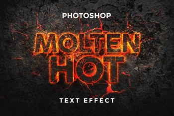 Free Molten Text Effect Design Mockup in PSD