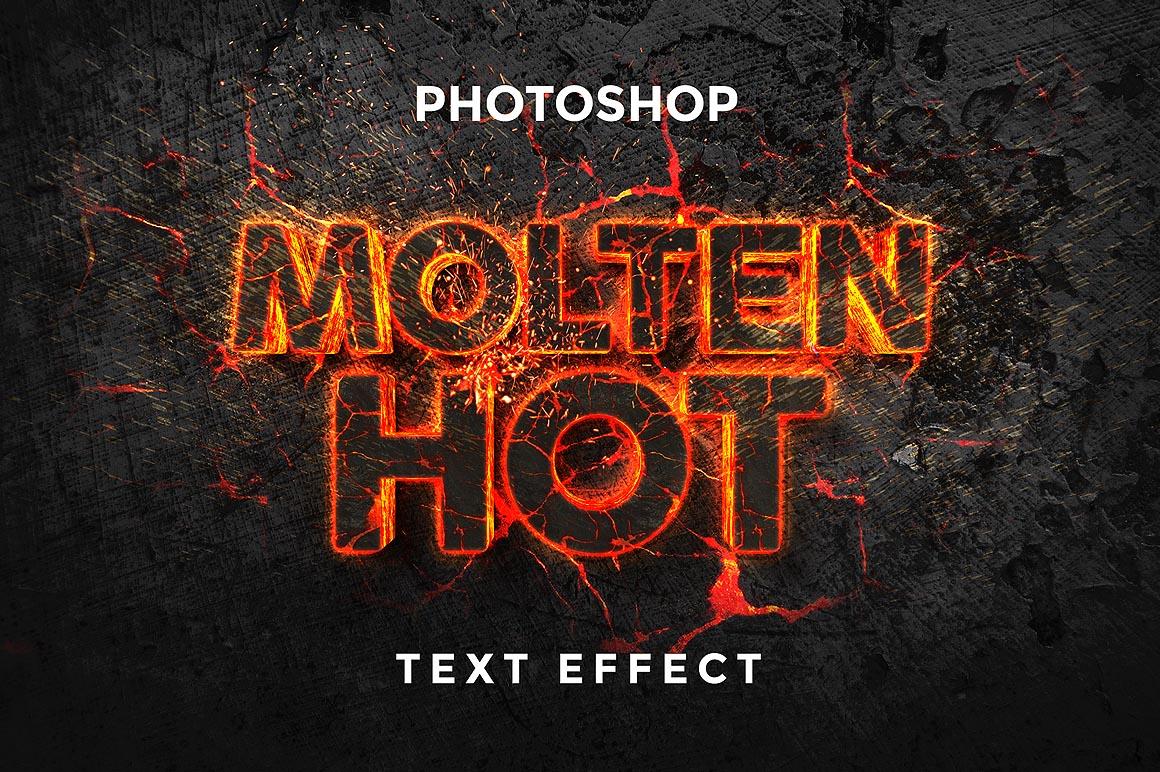 Molten Text Effect Design