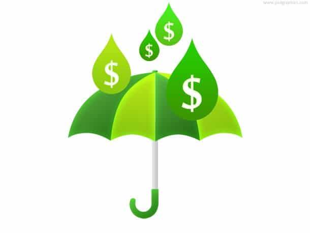 Money Rain Plus Umbrella Concept