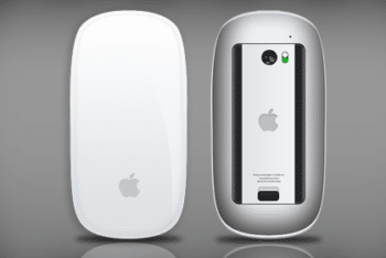 Free Apple Magic Mouse Design Mockup in PSD