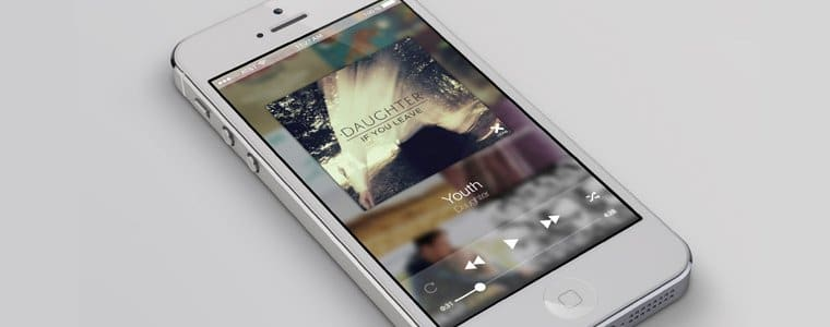 iPhone Screen Plus Music Player