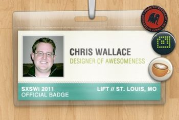 Free Personal Name Badge Design Mockup in PSD