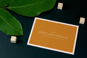 Free Nature Style Postcard Design Mockup