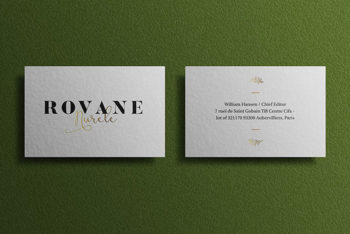Outstanding Business Card Mockup in PSD