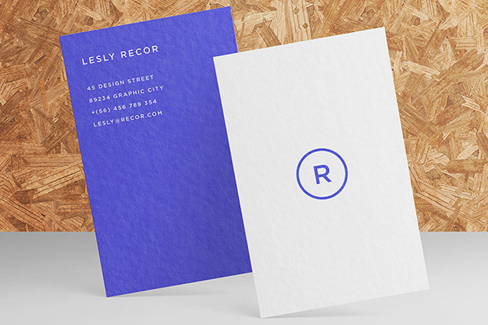 outstanding business card mockup