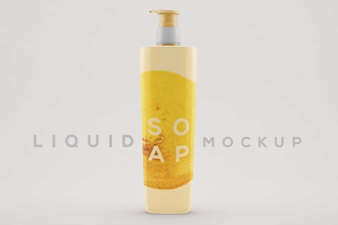 Tall Liquid Soap Bottle