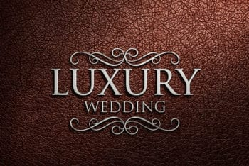 Free Fancy Luxurious Logo Design Mockup in PSD