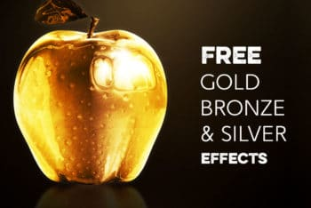 Free Gold Silver Bronze Effect Mockup in PSD