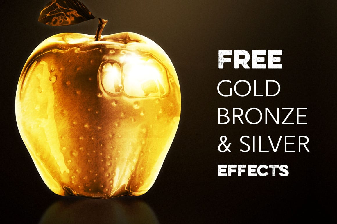Gold Silver Bronze Effect