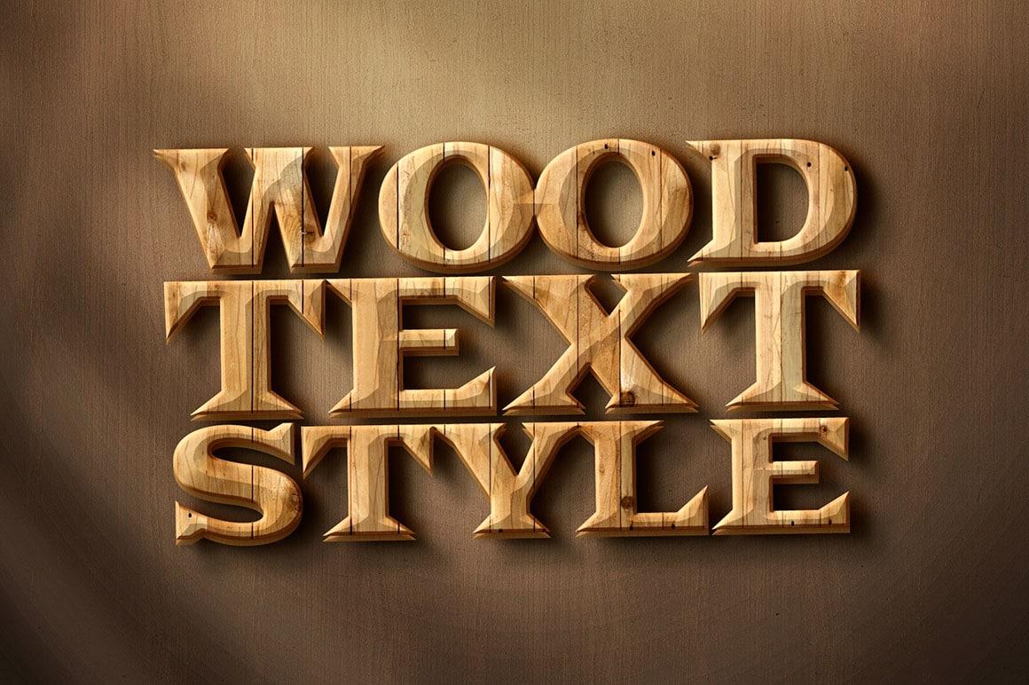 Wood Text Effect Design