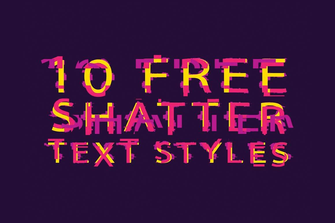 Shatter Text Effect Design
