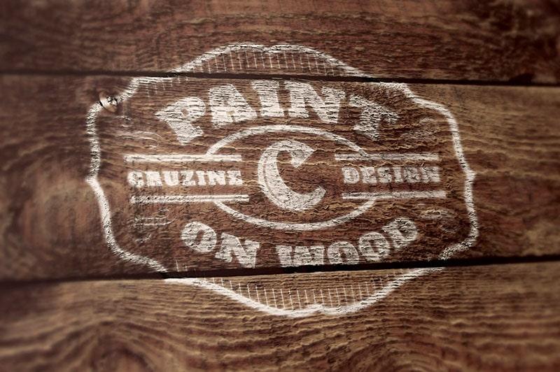 Wood Painted Logo Design