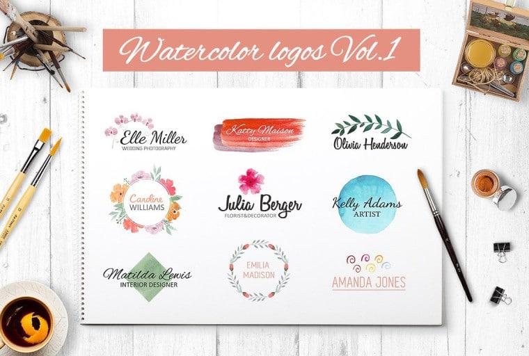 Creative Watercolor Logo Collection